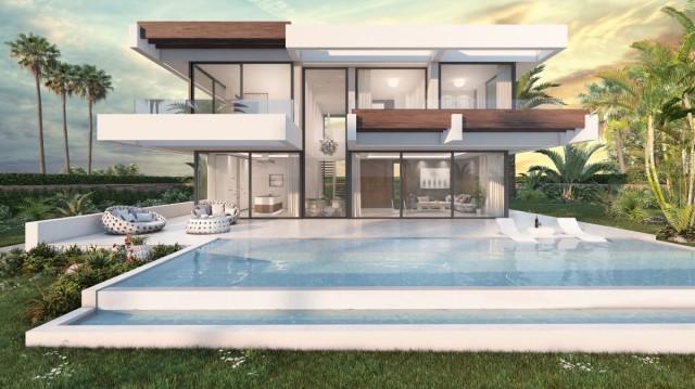 Contemporary style villa project close to Puerto Banus, walking distance to the beach in San Pedro de Alcantara, Marbella