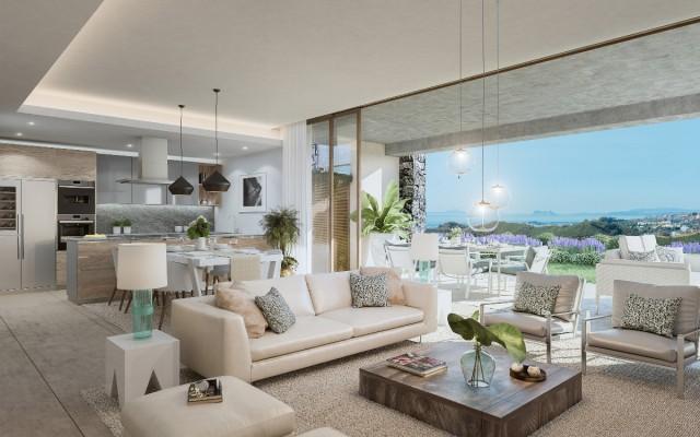 Just launched, Off plan new apartment project , El Real de la Quinta Los Olivos, the best sea views to Africa , near Marbella, Benahavis