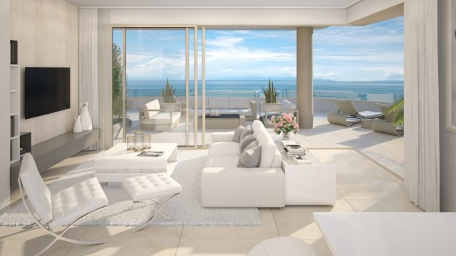 Modern luxury  apartments in construction frontline beach Fuengirola, Mijas Costa, Spain