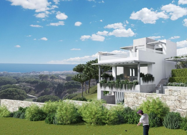 MODERN TOWNHOUSES AND VILLAS FRONTLINE CABOPINO GOLF OFF PLAN WITH SEA VIEWS MARBELLA