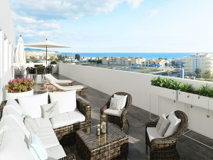 New apartment development, Torre del Mar, Malaga,