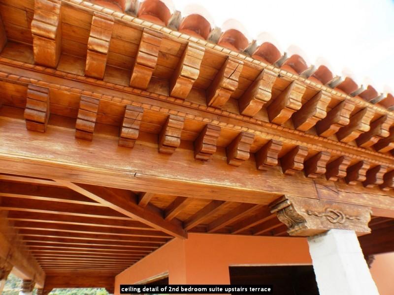 ceiling detail of 2nd bedroom suite upstairs terrace