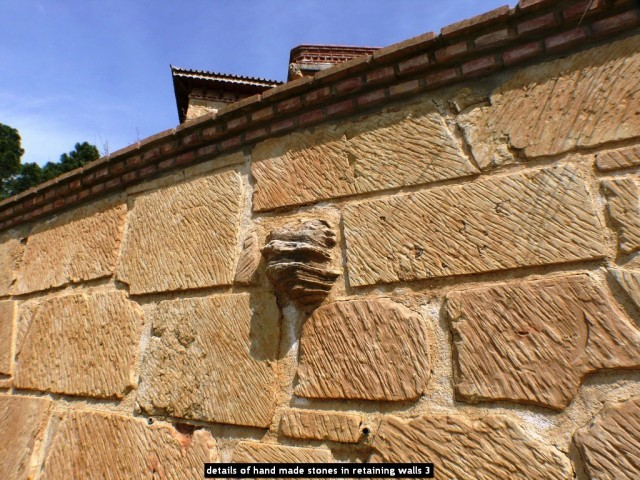 details of hand made stones in retaining walls 3