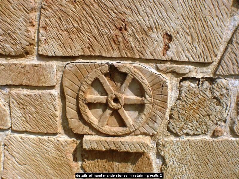 details of hand mande stones in retaining walls 2