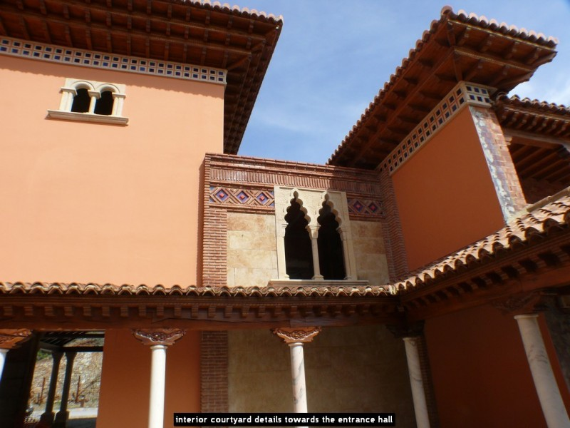 interior courtyard details towards the entrance hall