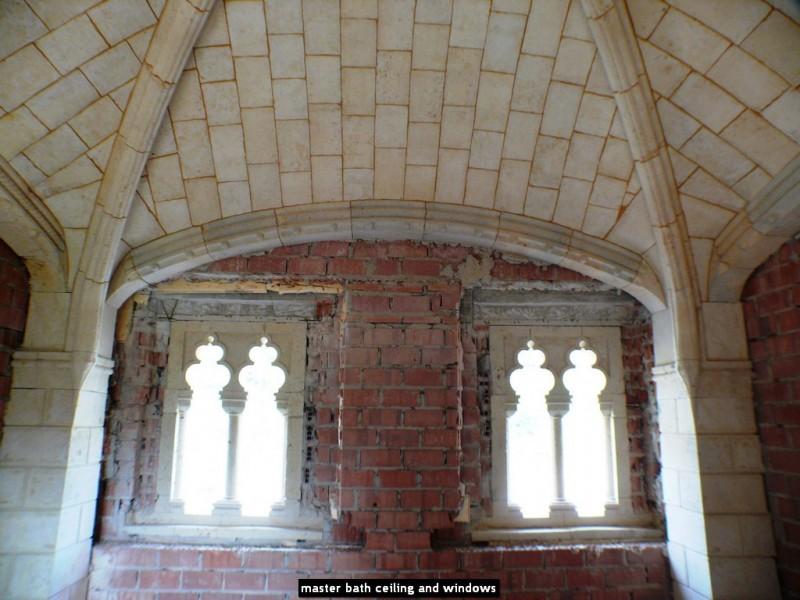 master bath ceiling and windows