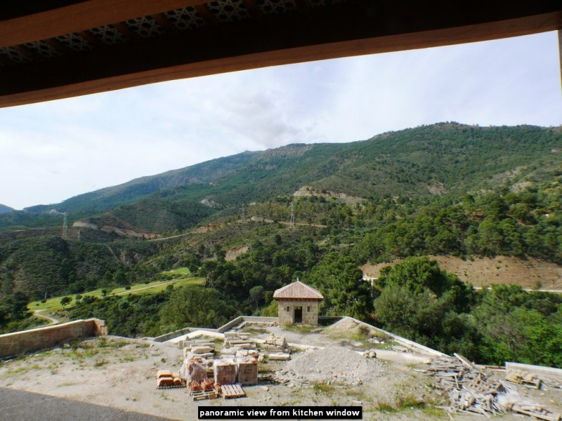 panoramic view from kitchen window