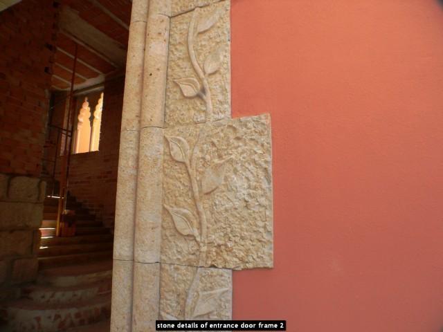 stone details of entrance door frame 2