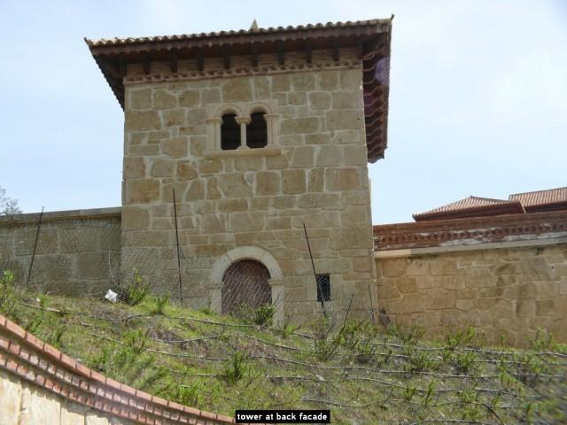 tower at back facade