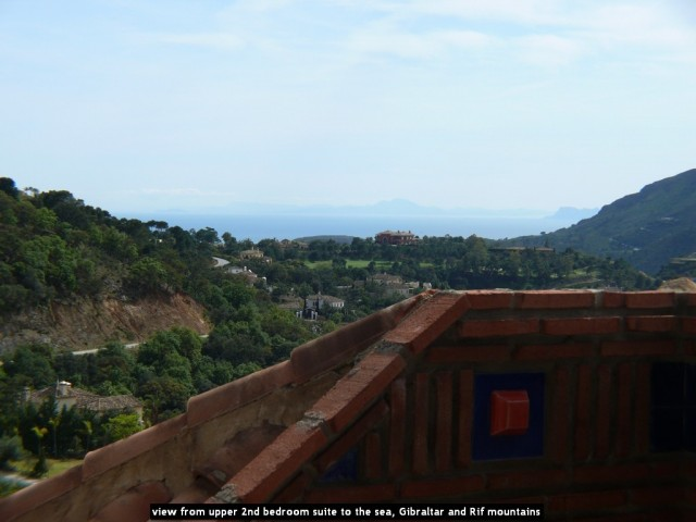 view from upper 2nd bedroom suite to the sea, Gibraltar and Rif mountains