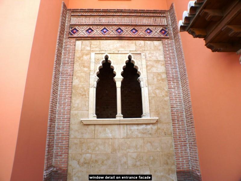 window detail on entrance facade