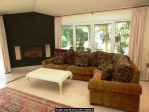 lounge seating area with fireplace
