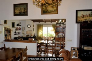 breakfast area and dining room