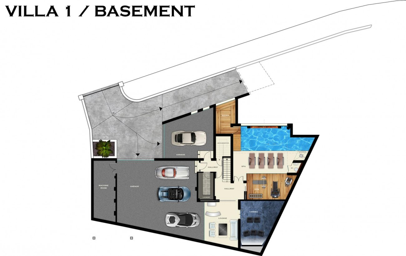 PLANS VILLA1-BASEMENT (Large)
