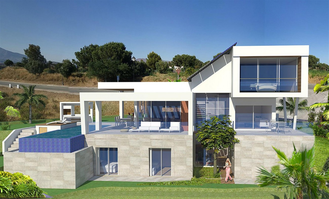 Brand New Contemporary Villas on Golf Complex for sale Mijas Costa Spain  (1)