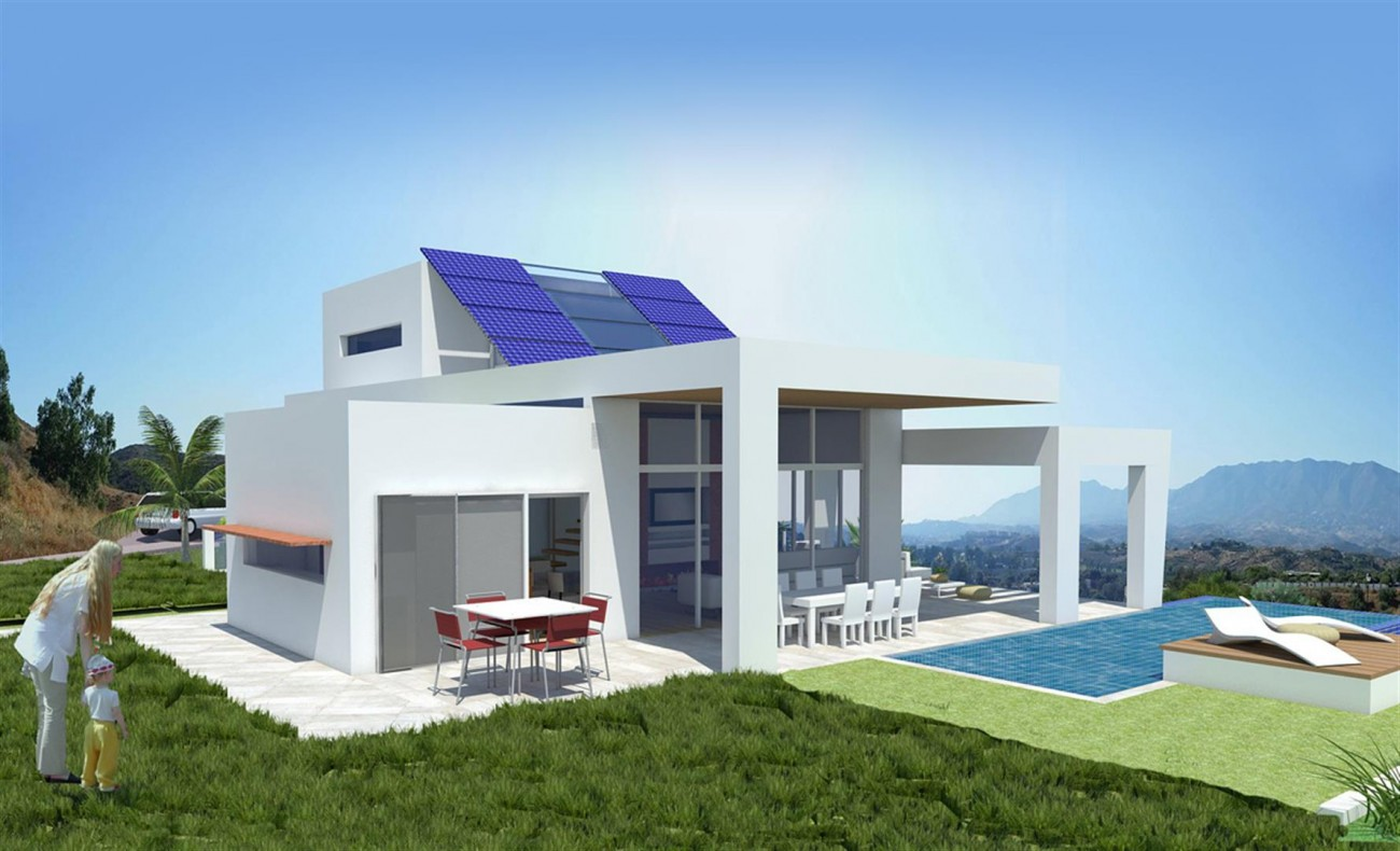 Brand New Contemporary Villas on Golf Complex for sale Mijas Costa Spain  (2)