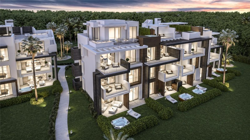 New Development Modern Apartments Estepona Malaga Spain (3)