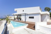 Newly built detached villa with private pool and beautiful views of Pollensa Bay in Bonaire, Alcudia