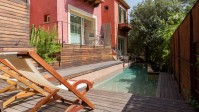 Ideal town house with shared swimming pool only 5 minutes walk from the pristine waters of Cala San Vicente