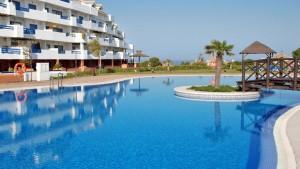 Ground floor and sunny unit with private garden for sale in Duquesa Suites, La Duquesa, Manilva, Malaga, Costa del Sol, Andalucia, SPAIN