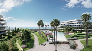 Luxury front line beach apartment in Torremolinos.
