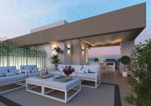 New Townhouses project in LA CALA GOLF situated frontline golf with great views of the golf course and the sea.
