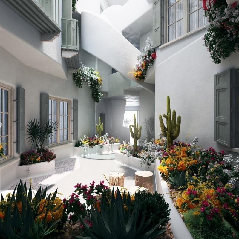 New apartments Marbella Centre interior patio 2