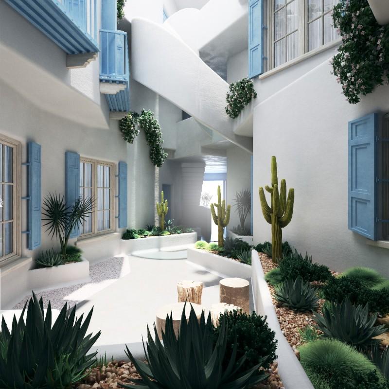 New apartments Marbella Centre interior patio