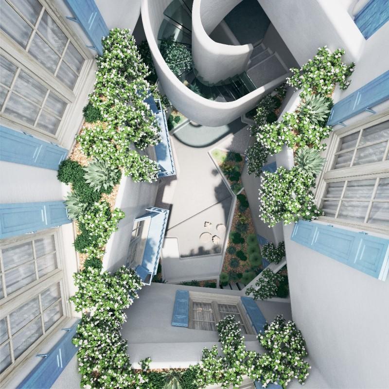 New apartments Marbella Centre interior courtyart