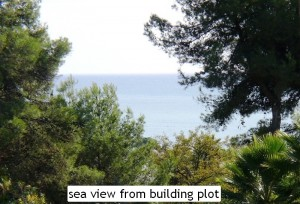 sea view from building plot