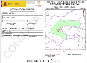 cadastral certificate