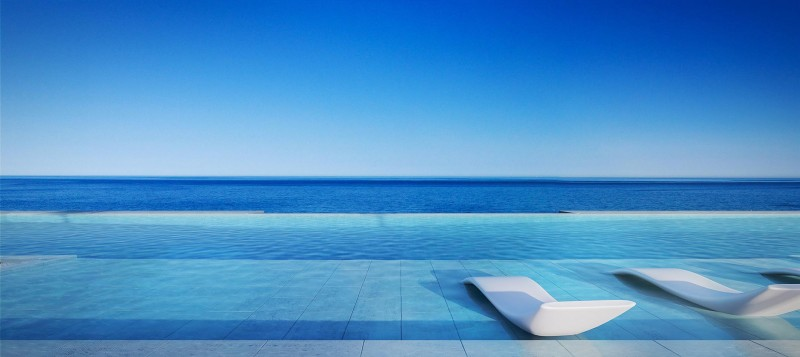 View over infinity pool