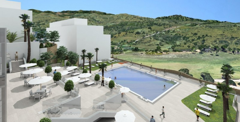 Image of upgraded pool area