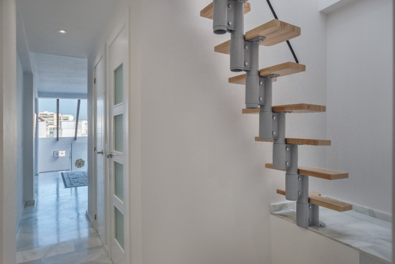 Staircase to top level
