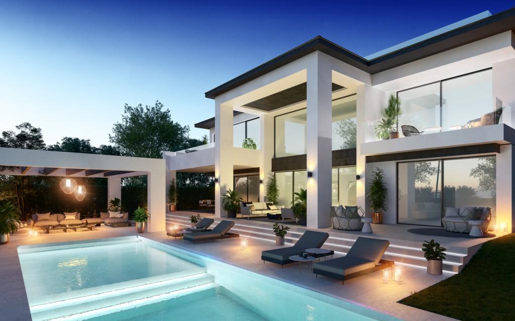 Pool area, property