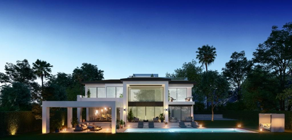 Property in dusk