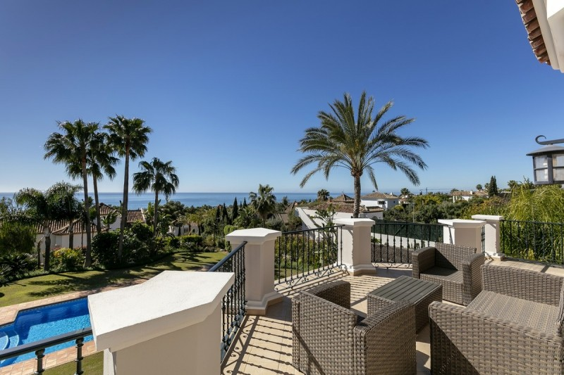 Sea views from first floor