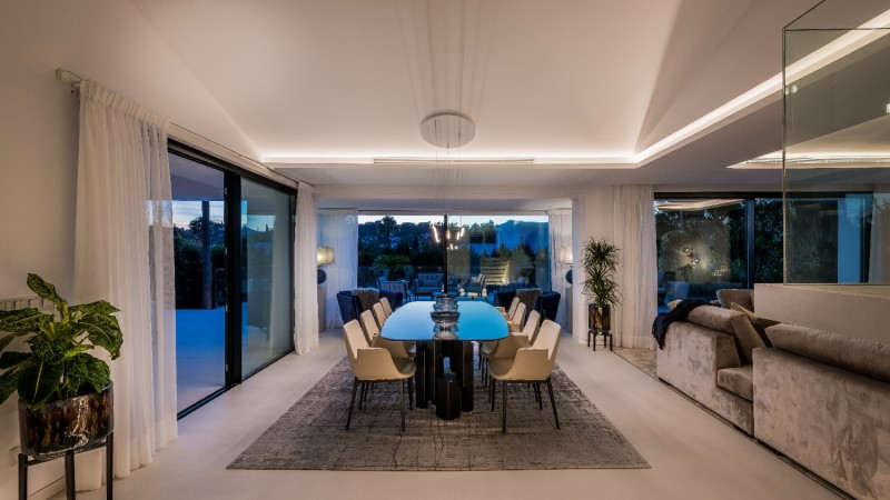 Dining area by night