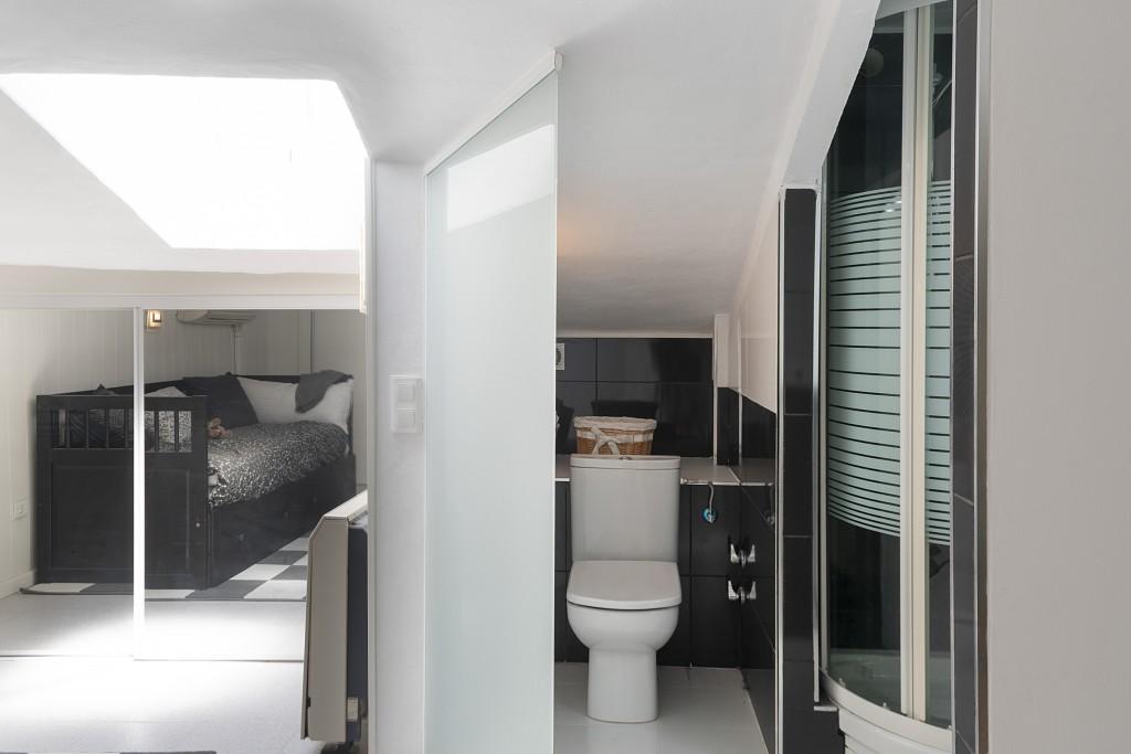 Bathroom attic room