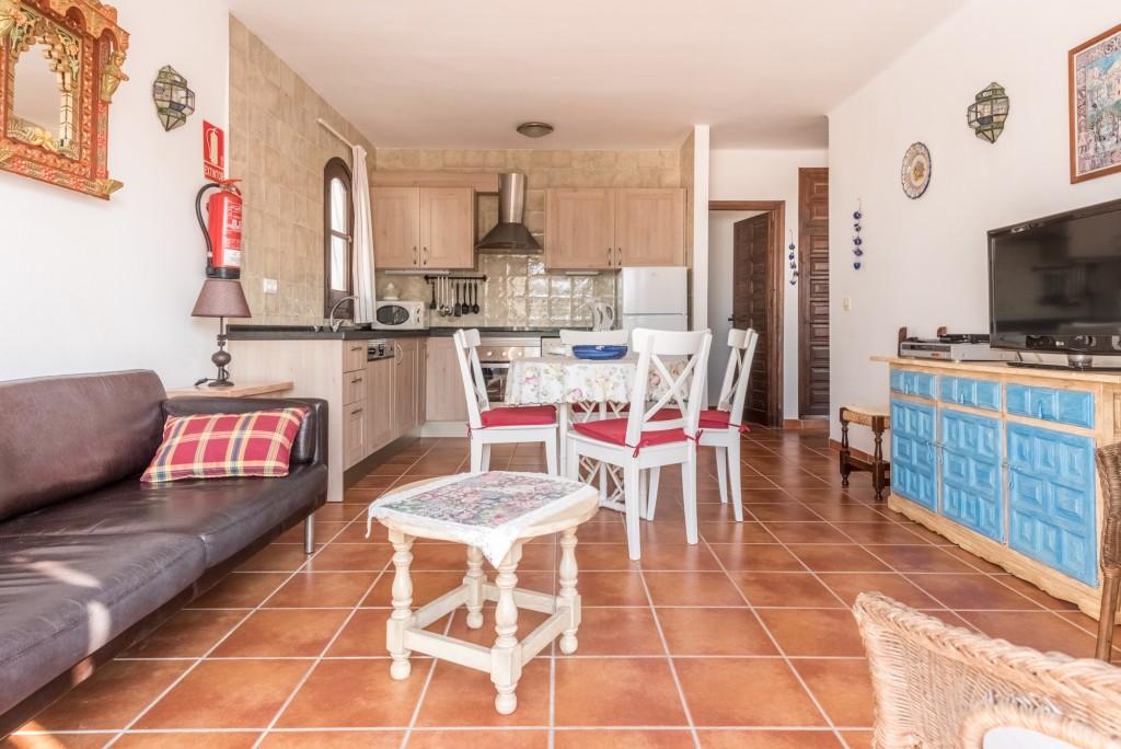 Living area & kitchen Upstairs