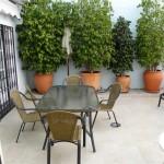 terrace off kitchen