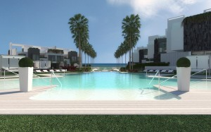 Off plan contemporary 2, 3, 4 and 5 bedroom state of the art townhouses situated front line beach West Estepona