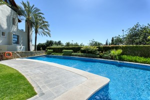 Luxurious 3 bedroom garden apartment in the exclusive Imara community in the hills above Marbella