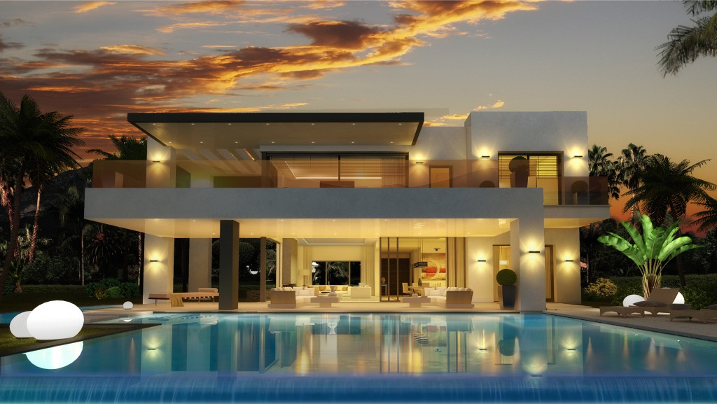 Luxusni-vila-Marbella-noc
