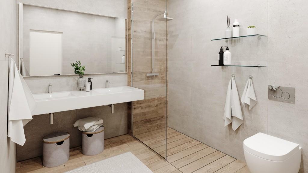 Moderni interiery koupelna