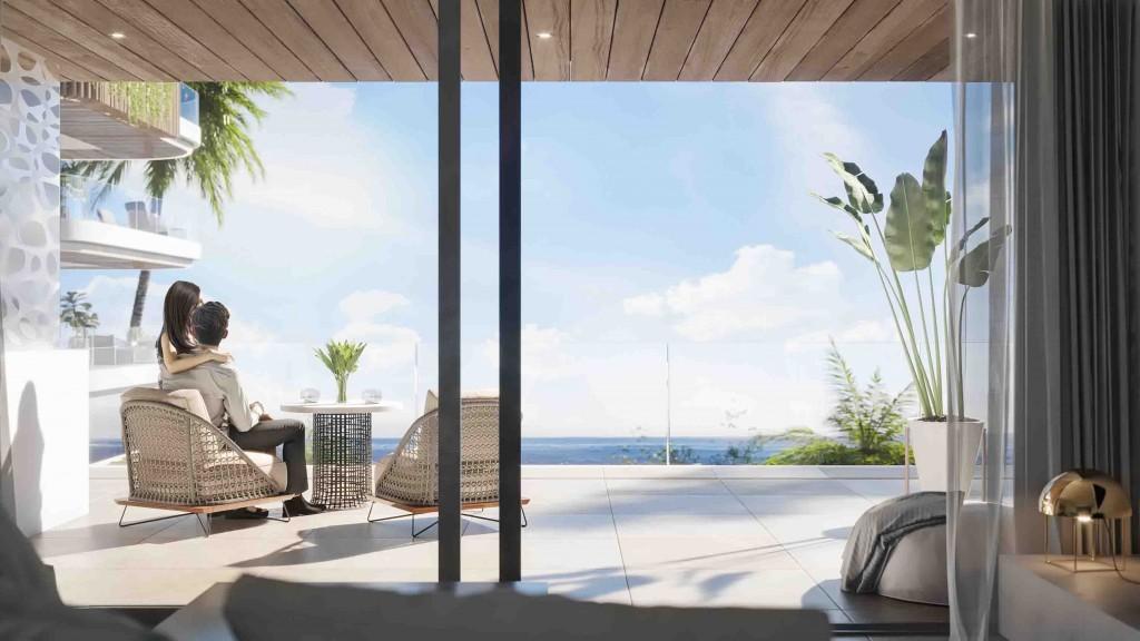 Vyhled na more terasa