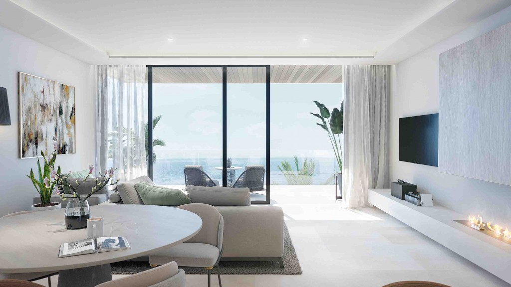 Moderni apartman u more obyvaci pokoj