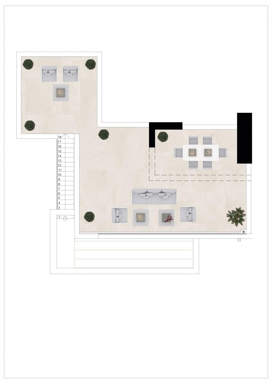 Golfovy apartman pudorys penthouse 3 loznice stresni terasa