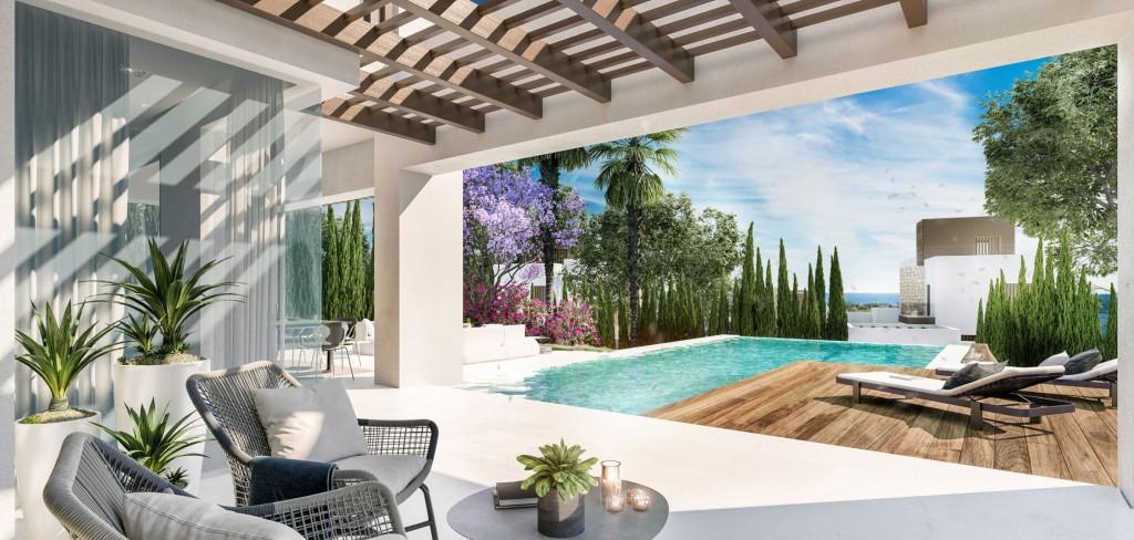 Moderni vila Marbella centrum terasa