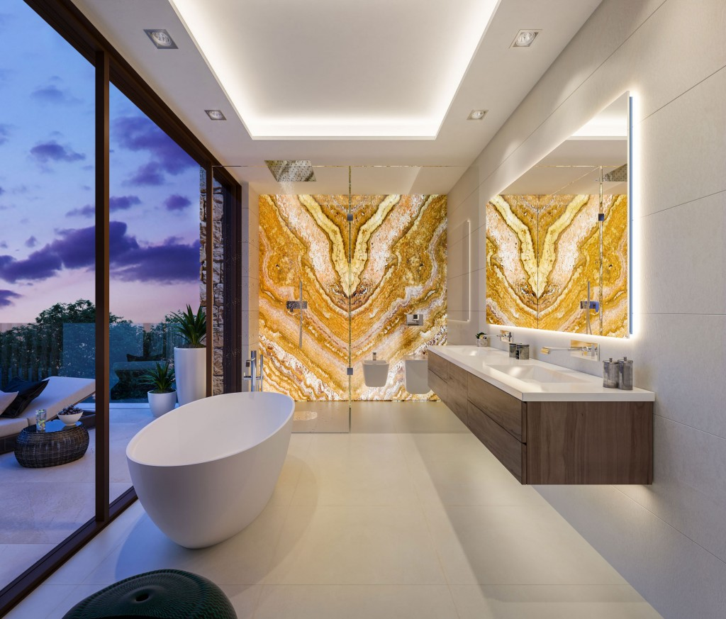 Moderni vila Marbella koupelna